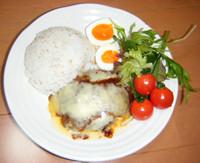 NZ産チェダーチーズハンバーグプレート