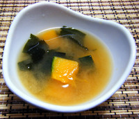 NZかぼちゃの味噌汁