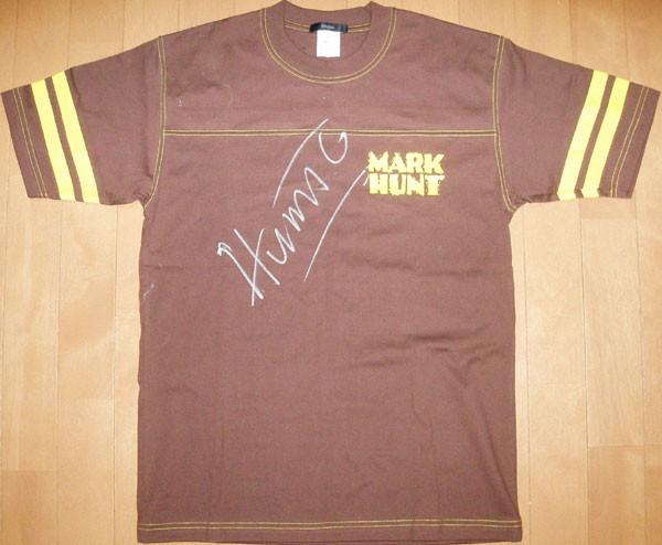 マーク・ハント選手のサイン入りTシャツ