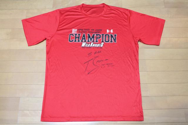トニー・ブラウン 2010シーズンSANYOチャンピオンTシャツ