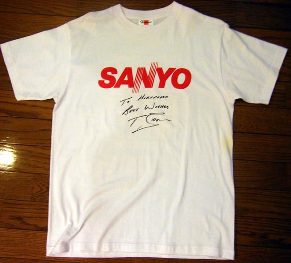 トニー・ブラウン 三洋電機 サイン・コメント入りTシャツ