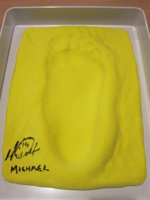 マグリンチィ選手の足型