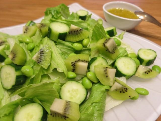 NZ産キウイのグリーンサラダ