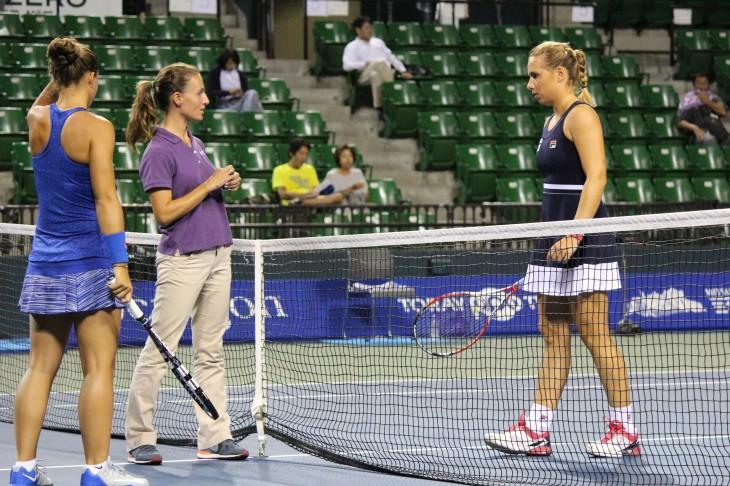本戦シングルス1回戦 サラ・エラニ VS マリーナ・エラコビッチ