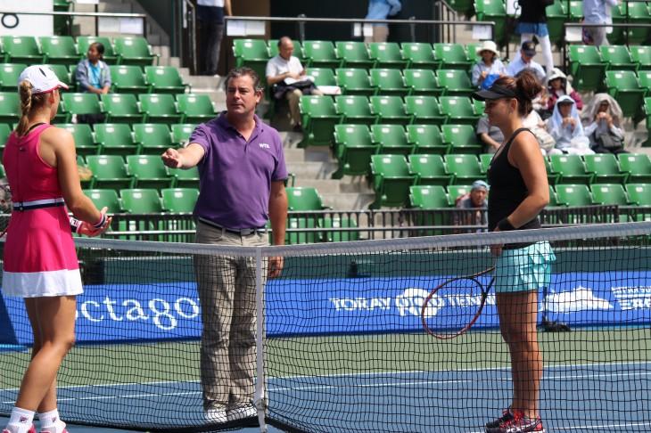 本戦シングルス2回戦 ケーシー・デラクワ VS マリーナ・エラコビッチ