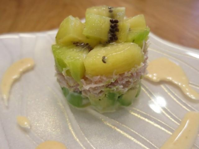 NZ産キウイと蟹のアボカドサラダ