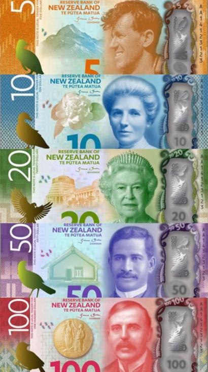 ニュージーランド紙幣について
