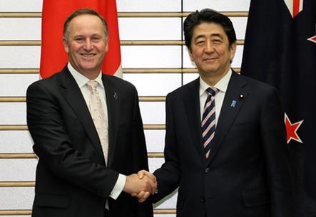 日本・ニュージーランド首脳会談