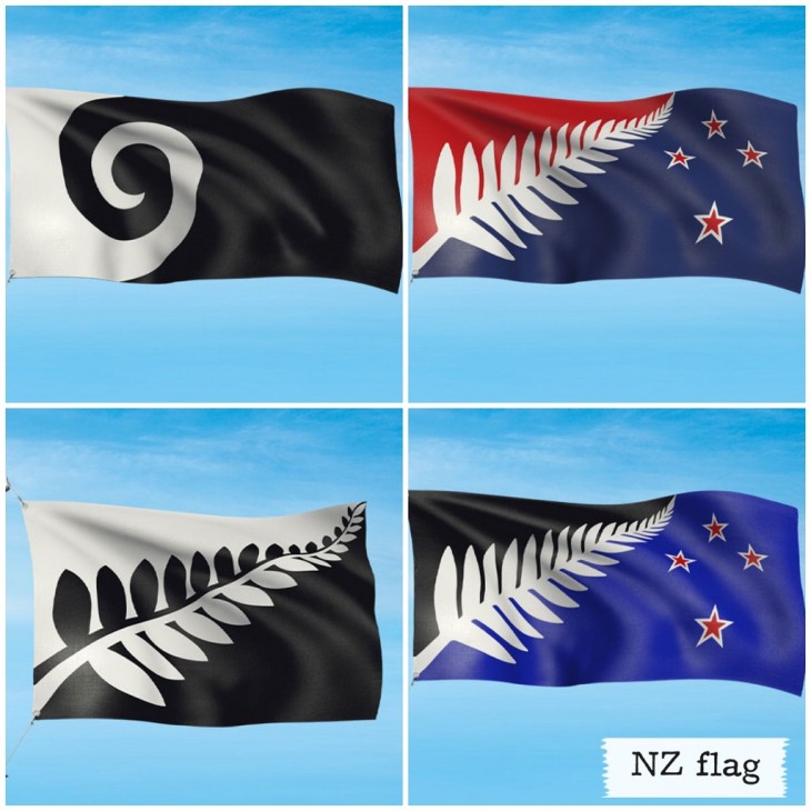 ニュージーランド国旗 × 4候補