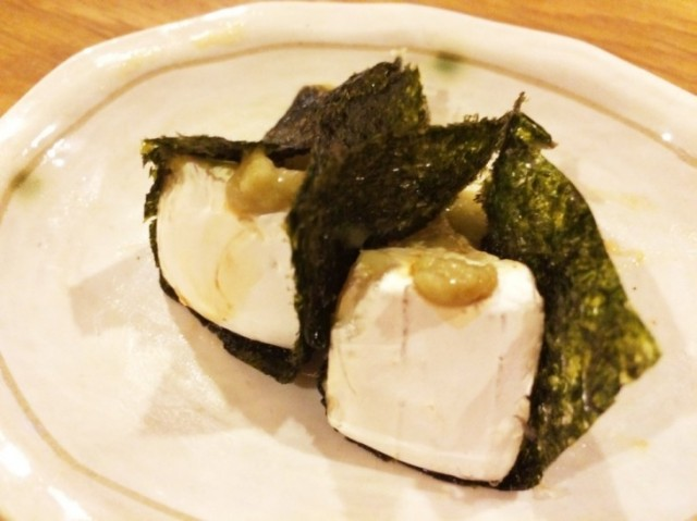 海苔巻きカマンベールチーズ