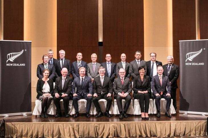 ニュージーランド首相と共に主要産業の貿易使節団が来日