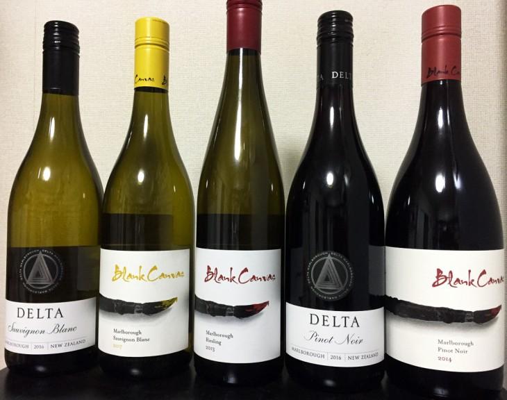 NZワイン会「デルタ・ヴィンヤード&ブランク・キャンバス」の会