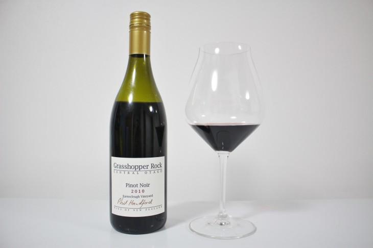 2012年度のエアーニュージーランド・ワインアワード・チャンピオンワイン「グラスホッパー・ロック セントラル・オタゴ ピノ・ノワール2010」