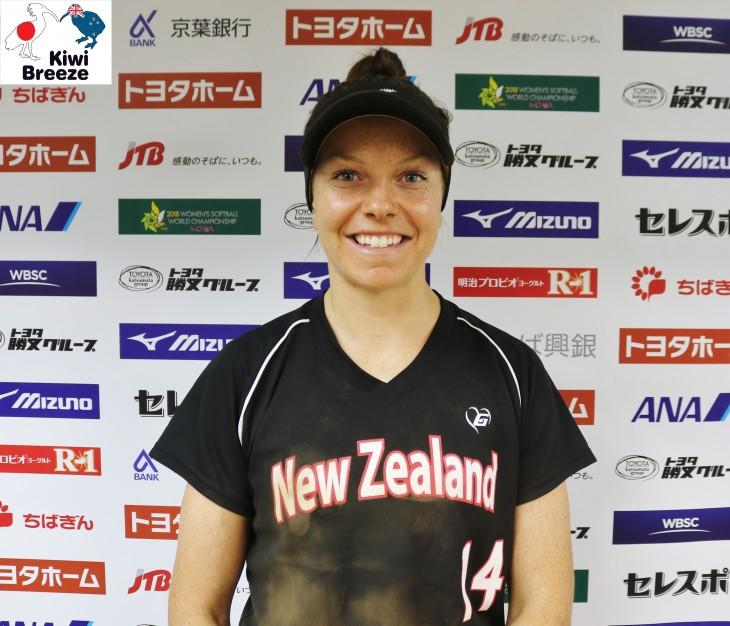 ニュージーランド ソフトボール代表 エリザベス・クーパーキャプテン インタビュー