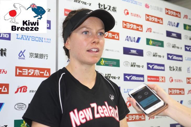 ニュージーランド・ソフトボール エリザベス・クーパー選手インタビュー その2