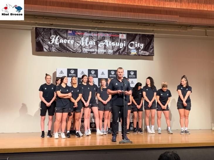 ニュージーランド女子バスケットボール代表 「トール・ファーンズ」 ウェルカム・レセプション レポート