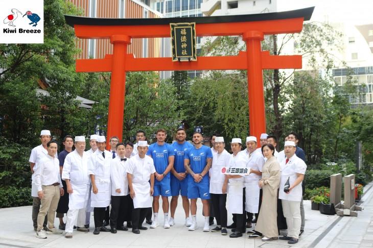 オールブラックス選手が日本橋の神社&名店を訪問!